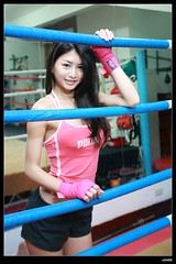 nEO_IMG__MG_5037 (c0466art) Tags: light red portrait hot girl female canon asia pretty pants good quality gorgeous taiwan indoor figure attractive 5d boxing charming pure c0466art