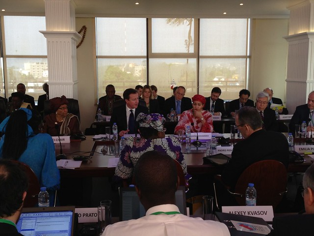 David Cameron co chairs High Level Panel in Liberia