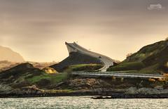 Jump (bgspix) Tags: road bridge norway canon curves atlantic kristiansund molde atlanterhavsveien atlanticroad famousroad famousbridge telephotolandscape rv64 routedelatlantique eos60d ef70200mmf28lisiiusm