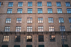 DSCF2152 (Mike Pechyonkin) Tags: street sky cloud house reflection window wall moscow   2016
