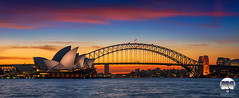 Sydney | Glamorous Sunset (kenneth chin) Tags: glow attraction landmark color lights operahouse harbourbridge nikon d810 nikkor 2470f28g australia sydney yahoo google city nsw sunset