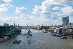 Skyline up the River Thames, London (gbuckingham89) Tags: london londonskyline riverthames england unitedkingdom gb