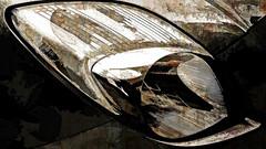 the car lamp II (j.p.yef) Tags: texture monochrome car digitalart yef carlamp peterfey jpyef