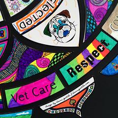 IMG_2535_800px_o (Music & Mandala Art for Healing) Tags: donnagentile dogs deserve better aimforabettertomorrow communitymandalaproject beeatthehive the hive mandala puzzle healing art rescue