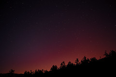 Anochecer rojo (good_for_nothing) Tags: night longexposure red sky forrest bosque sombras cielo anochecer dawn canon 5d mark ii 2470mm estrellas