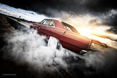 Mad Dart (Rawcar.com Photography) Tags: red sun car race vintage drag photography automobile raw muscle automotive burning burn american 1967 dodge oldtimer mopar burnout gt custom dart v8 dragracing tyres dragrace dragstrip 2016 haapsalu smoge americanbeautycarshow rawcar rawcarcom
