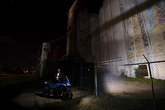 David (p14nd4) Tags: tuxedo tux motorcycle light painting