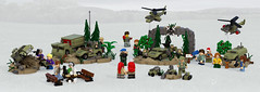 Alley of Echoes (Garry_rocks) Tags: lego military monument park diorama microscale helicopter humvee