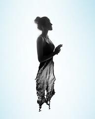 Water Dress (joemeawasigephoto) Tags: portrait black blue water photoshop creative photography elements manipulation joe meawasige