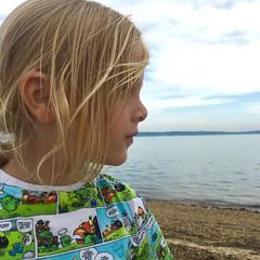 This boy, though (imcountingufoz) Tags: coast hampshire lepe seaside beach blond kids child boy