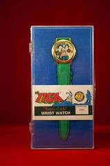 """1998 THE TICK """"XMAS-TICK"""" WRIST WATCH (FRONT) (vsndesigns) Tags: beta the tick vs arthur sentinel prime optimus successor townsend coleman lego minifig minifigure dcon 2014 ball mylar balloon buttons bonanza pencil indie shocker gbjr toys with tie and tshirt zombie in a steel box fox promotional totally kids magazine 45 club spoon taco bell meal commercial eli stone ben edlund little wooden boy comic book merchandise rare limited edition 80s 90s collector museum naked super hero heroine collection photo screen"""