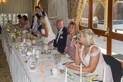 Claire and Anthony's Wedding (Kev Gregory (General)) Tags: wedding anthony claire husband wife saint st peters stokeontern church shropshire england white reception albright hussey manor shrewsbury hotel family friends newly weds newlyweds