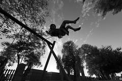 The joy of life (tzevang.com) Tags: happiness happy artistic greece joyful joy bw playground girl