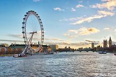 London Eye Sunset (Pandster1981) Tags: a77 hdr landscape london sigma1020mmf35exdchsm sonya77 thames