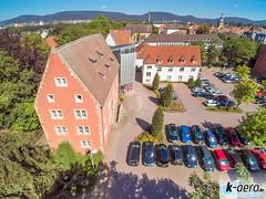 YUN00069 (daniel kuhne) Tags: luftbild luftaufnahme rinteln weserstadt innenstadt parkplatz rathaus museum eulenburg panorama yuneecq5004k dng raw