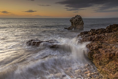 Shot Rock - 'Rip/Slash' (mattwalkerncl) Tags: canon eos 6d fullframe landscape seascape uk england summer sunrise colour water movement lee manfrotto filter
