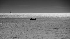 at sea (neals pics) Tags: sea water irishsea fishing reflections light ocean horizon mono monochrome my100xbw bw blackwhite 100xthe2016edition 100x2016 image58100