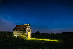 Gellicum Valley (PhotoSolutions | pure photography) Tags: grass night colorful netherlands decay meadow nature stars rotten gellicum betuwe landscape lightpaint starrynight light