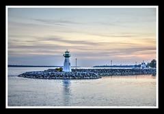 Prescott Harbor (ildikoannable) Tags: prescott ontario lighthouse stlawrenceriver sunset