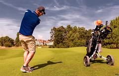 Profi Golfer (rniehus photography) Tags: golf knoggeheid lumix belgien michael streitberg sport royal zoute club mikel golfplatz abschlag pitch caddy wedge 60