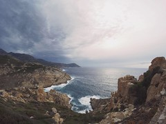 Cloudy day (laura&dennis) Tags: viel roadtrip clouds couple blue vacation capture travel cliffs rocks westcoast korsika corse summer sea gopro