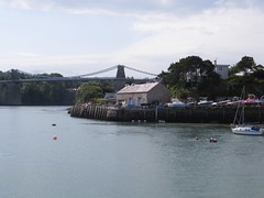 3876 Pont Grog y Borth from the Jetty at Menai Bridge (Andy panomaniacanonymous) Tags: 20160907 bbb bridge cruise menaistraits menaisuspensionbridge mmm pontgrogyborth roundtrip ynysmon
