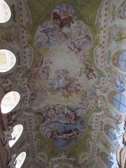 Painted ceiling, chapel of the chateau, Valtice, Czechia (Paul McClure DC) Tags: valtice czechia czechrepublic historic aug2016 moravia feldsberg břeclav architecture church lednickovaltickýareál jihomoravskýkraj