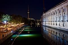 Monbijou Park (Staufen39) Tags: berlin germany bode museum fernsehturm monbijou park spree fluss nacht night shot lights river