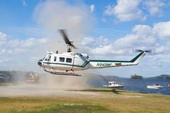Maine Forest Service Bell UH-1H N945MF (jbp274) Tags: 52b greenville greenvilleseaplaneflyin flyin helicopter maineforestservice bell uh1 iroquois huey bell205 mooseheadlake