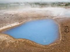 Small blue pool (James E. Petts) Tags: geysir iceland strokkur blue geyser polariser pool