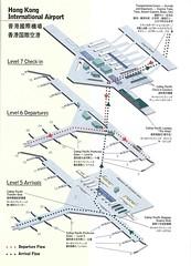 Cathay Pacific Hong Kong diagram, 1998 (airbus777) Tags: cathaypacific cx hongkong hkg airport terminal diagram 1998