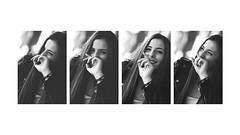 Raquel C. - 13 (G. Goitia) Tags: monocromtico monochrome bn blanco negro black white bw sincolor smile sonrisa feliz happy hapiness felicidad composicin compo montaje risas