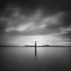 Together Apart (Michael Salmela) Tags: bw post camanoisland daytimelongexposure nd110 englishboomtrail
