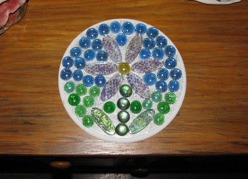 WIP - Joshuas round glass nugget mosaic flower