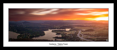 Telstra Tower - Canberra (John_Armytage) Tags: longexposure sunset panorama clouds zeiss landscape dusk farm pano australia panoramic telstra canberra canon5d blackmountain act telstratower australiancapitalterritory leefilters novaflex carlzeiss50ml14