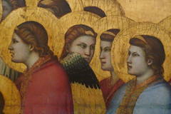 Giotto, The Entombment of Mary, detail with conversing angels