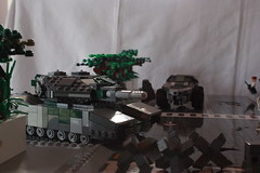 Operation Big Apple: EU MBT aka Illegal Tank (✠Andreas) Tags: lego military diorama thepurge thepurgeeu eumbt thepurgediorama