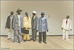 We're singing the blues...... (Ria Rotscheidt) Tags: museum paper blues papier rijswijk figuren mannen bodegraven papierbinnale kunstbus
