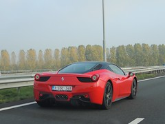 4-5-8 (JayKolvenbag) Tags: red cars beauty speed photography cool italian nikon highway italia fast cruising ferrari coolpix speeding brutal carphotography italiancars 458 p510 worldcars