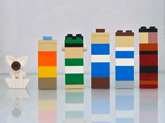 Avatar Block Buiddies! (Gabe Umland) Tags: last momo buddies lego air avatar block bender toph katara zuko aang sokka taph