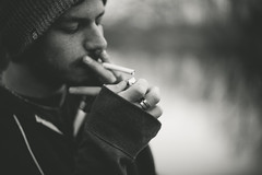 Zach {explored} (.monodrift) Tags: portrait bw 50mm nikon bokeh cigarette smoking d600 f14g