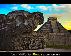 It's the End of the World as We Know It (And I Feel Fine) (Sam Antonio Photography) Tags: blue sunset sky cloud color history latinamerica yellow horizontal architecture mexico outdoors temple photography day pyramid snake religion lawn yucatan tranquility nopeople unescoworldheritagesite solstice staircase armageddon serpent doomsday ancientcivilization mythology superstition thepast quetzalcoatl equinox chichnitz apocalyptic mexicosunset prophecy endoftheworld elcastillo mayancalendar colorfulsunset traveldestinations colorimage predictions mexicanculture internationallandmark lowangleview hispanicheritage mexicotravel builtstructure newsevenwondersoftheworld mayacalendar canoneos5dmarkii kukulkanpyramid mexicophotography animalrepresentation mayalongcountcalendar suncastsashadowonelcastillo mayancalendarmythofdoomsday mythofdoomsday mayancalendarendoftheworld snakeeatingpyramid