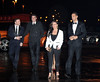Wayne Rooney, Robin van Persi, Rebecca Ferdinand, Rio Ferdinand Manchester United Football Team attend the UNICEF Gala Dinner