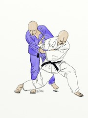 Tai-otoshi (michael.hultstrom) Tags: judo illustration painting sketch image jitsu drawing wrestling picture free creativecommons gratis technique takedown jutsu nagewaza taiotoshi bodydropthrow