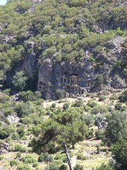 Pinara, Cliff Rock Tombs 0016 (SueWalkerWhite) Tags: cliff 2004 archaeology turkey greek ruins roman minare pinara rocktombs