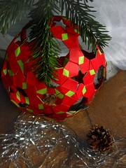 Sphere 94, Heinz Strobl (Aneta_a) Tags: origami strobl modularorigami kusudama paperstrips knotology heinzstrobl icosahedralsymmetry