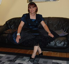 bei Birgit (Marie-Christine.TV) Tags: berlin lady dress feminine sissy transvestite gown petticoat mariechristine anklechain governess