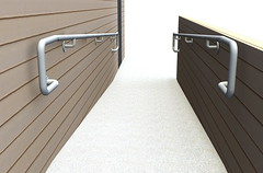 Wall Mounted ADA Ramp Railing