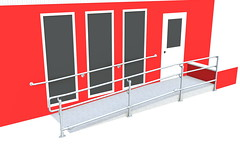 ADA Ramp Railing - Wall & Ramp