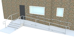 Top/Mid Rail ADA Railing - Ramp, Wall & Stair